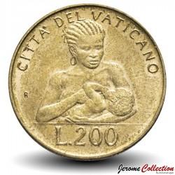 VATICAN - PIECE de 200 Lires - 1992