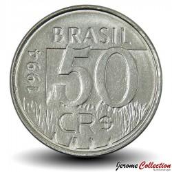 BRESIL - PIECE de 50 Cruzeiros reais - Jaguar - 1994