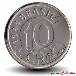 BRESIL - PIECE de 10 Cruzeiros reais - Tamandua - 1994