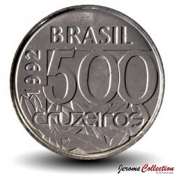BRESIL - PIECE de 500 Cruzeiros - Tortue de mer - 1992