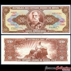 BRESIL - Billet de 20 Cruzeiros - 1962