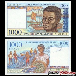 MADAGASCAR - Billet de 1000 Francs / 200 Ariary - 1994