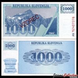 SLOVENIE - Billet de 1000 Tolarjev - 1992 - Mont Triglav P9s2