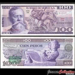 MEXIQUE - BILLET de 100 Pesos - Venustiano Carranza - 1974 P66a - Série AA
