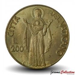 VATICAN - PIECE de 200 Lires - Bienheureuse Vierge Marie - 1990 Km#224