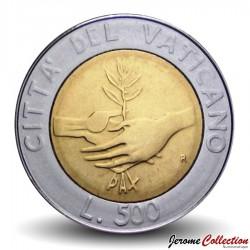 VATICAN - PIECE de 500 Lires - Année de la Paix - 1984 Km#182