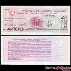 ARGENTINE - Provincia de Tucumán - Billet de 100 Australes - 1991 S2715