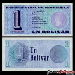 VENEZUELA - Billet de 1 Bolivar - Simón Bolívar - 5.10.1989 P68a