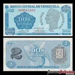 VENEZUELA - Billet de 2 Bolivares - Simón Bolívar - 5.10.1989 P69a