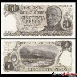 ARGENTINE - Billet de 50 Pesos - 1975 P296a2