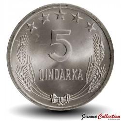 ALBANIE - PIECE de 5 Qindarka - 1964 Km#39