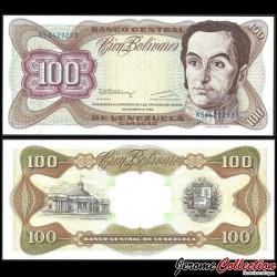 VENEZUELA - Billet de 100 Bolivares - Simón Bolívar - 1992 P66e