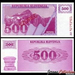 SLOVENIE - Billet de 500 Tolarjev - 1990 - Mont Triglav - SPECIMEN P8s1