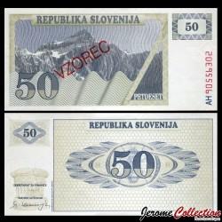 SLOVENIE - Billet de 50 Tolarjev - 1990 - Mont Triglav - SPECIMEN P5s1
