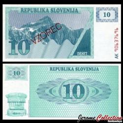 SLOVENIE - Billet de 10 Tolarjev - 1990 - Mont Triglav - SPECIMEN P4s1
