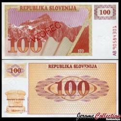 SLOVENIE - Billet de 100 Tolarjev - 1990 - Mont Triglav - SPECIMEN P6s1