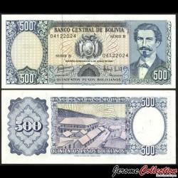 BOLIVIE - Billet de 500 Pesos Bolivianos - 1981 P166a