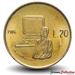 SAINT-MARIN - PIECE de 20 Lires - Ordinateur - 1986