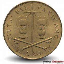 VATICAN - PIECE de 20 Lires - Saint Pierre et Paul - 1967
