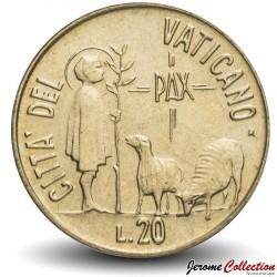 VATICAN - PIECE de 20 Lires - Année de la Paix - 1984