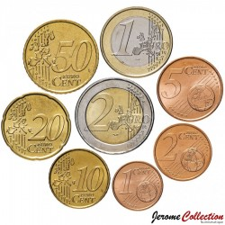 GRECE - SET / LOT de 8 PIECES de 1 2 5 10 20 50 Cents - 1 2 Euro - 2002 2003