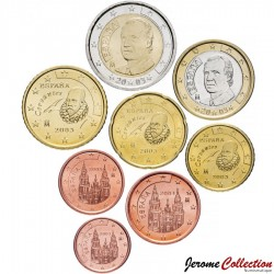 ESPAGNE - SET / LOT de 8 PIECES de 1 2 5 10 20 50 Cents - 1 2 Euro - 2003 Km#1040 1041 1042 1043 1044 1045 1046 1047