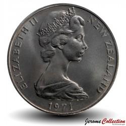 NOUVELLE-ZELANDE - PIECE de 1 Dollar - Système décimal - 1971