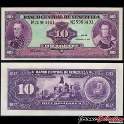 VENEZUELA - Billet de 10 Bolivares - Monument de la bataille de Carabobo - 8.12.1992 P61c