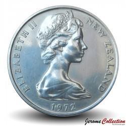 NOUVELLE ZELANDE - PIECE de 10 Cents / 1 Shilling - masque Maori - 1972