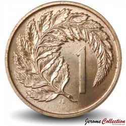 NOUVELLE ZELANDE - PIECE de 1 Cent - Feuille de fougère - 1972 Km#31