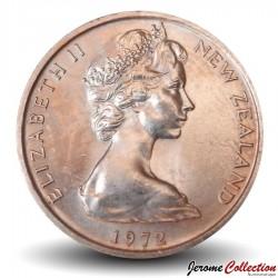 NOUVELLE ZELANDE - PIECE de 1 Cent - Feuille de fougère - 1972