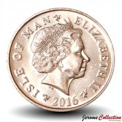 ILE DE MAN - PIECE de 1 Penny - Mémorial - 2016