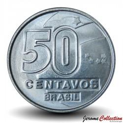 BRESIL - PIECE de 50 Centavos - Série métiers : Tisserande - 1989