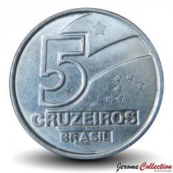 BRESIL - PIECE de 5 Cruzeiros - Série métiers : Paludier - 1991