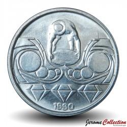 BRESIL - PIECE de 10 Centavos - Série métiers: Prospecteur de diamants - 1990