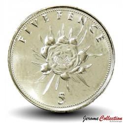 GIBRALTAR - PIECE de 5 Pence - Fleur - 2016 Km#NEW