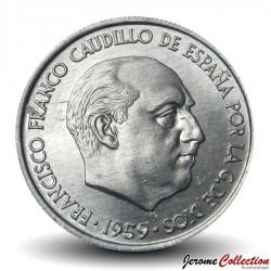 ESPAGNE - PIECE de 10 Centimos - Francisco Franco - 1959 Km#790