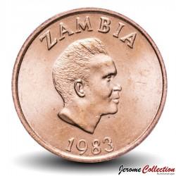 ZAMBIE - PIECE de 2 Ngwee - Aigle - 1983