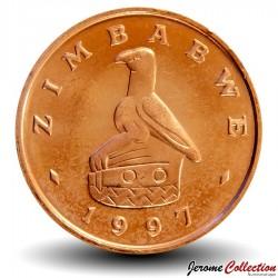 ZIMBABWE - PIECE de 1 Cent - Oiseau Zimbabwe - 1997