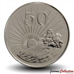 ZIMBABWE - PIECE de 50 Cents - Soleil radieux - 2002 Km#5a