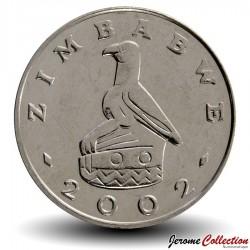 ZIMBABWE - PIECE de 50 Cents - Soleil radieux - 2002