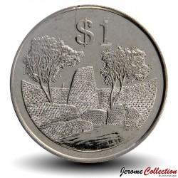 ZIMBABWE - PIECE de 1 Dollar - Monument national du Grand Zimbabwe - 2002 Km#6a
