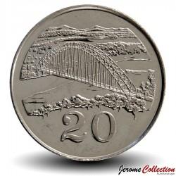 ZIMBABWE - PIECE de 20 Cents - Birchenough Bridge - 2002