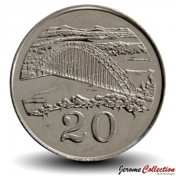 ZIMBABWE - PIECE de 20 Cents - Birchenough Bridge - 2002 Km#4a