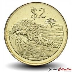 ZIMBABWE - PIECE de 2 Dollars - Pangolin - 2002