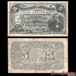 ARGENTINE - Billet de 5 Pesos - Dr. Nicolás Avellaneda - 1891 P209a2