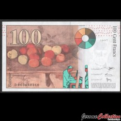 FRANCE - Billet de 100 Francs - CEZANNE - 1997