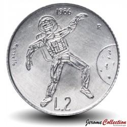 SAINT-MARIN - PIECE de 2 Lires - Cosmonaute - 1986 Km#188