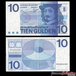 PAYS BAS - Billet de 10 Gulden - Frans Hals - 1968 P91b