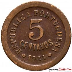 PORTUGAL - PIECE de 5 Centavos - 1924